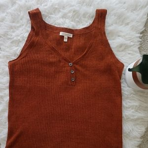 EILEEN FISHER Cayenne Red Linen tank top M